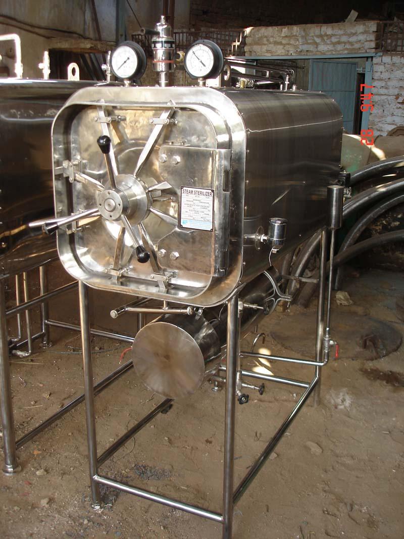 Horizontal Rectangular High Pressure Steam Sterilizer